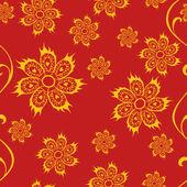 Patrón sin costuras floral de hadas — Vector de stock