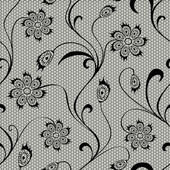 Floral lace seamless pattern — Stock Vector