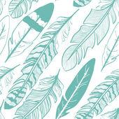 Seamless pattern of bird feathers — Stock Vector