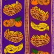 Stock Vector: Ethnic seamless pattern of fruits