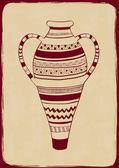 Illustration avec vase fleuri — Vecteur