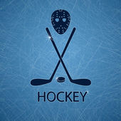 Illustration with hockey accessories — Vector de stock