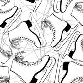Seamless pattern of skates — Vecteur
