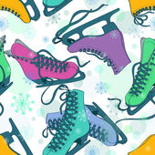 Seamless pattern of colorful skates — Stock Vector