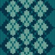 Knitted seamless pattern with rhombus — Stock vektor