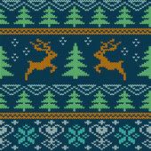 Scandinavian knitted seamless pattern — Stock Vector