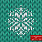 Christmas and New Year knitted seamless pattern or card — Stock Vector