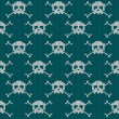 Knitted seamless pattern with skulls — Stok Vektör