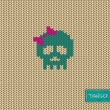 Knitted seamless pattern or background with skull — Stock vektor