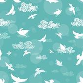 Nahtlose Muster der Vögel in den Himmel — Stockvektor