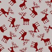 Seamless pattern of deers — Stock Vector