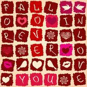 любовь открытки или бесшовный фон — Cтоковый вектор