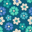 Seamless pattern of button flowers — Stock Vector #39424979