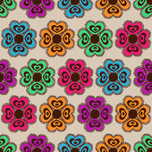 Seamless pattern of flowers — Stock Vector