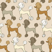 Seamless pattern of poodle dogs — Wektor stockowy