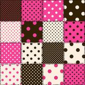 Nahtlose muster der polka dot patchworks — Stockvektor