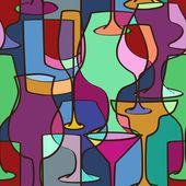 Geometric seamless pattern of glasses — Wektor stockowy
