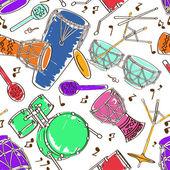 Seamless pattern of drum set — ストックベクタ