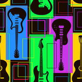 Seamless pattern of guitars — Stock Vector
