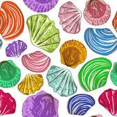 无缝模式的贝壳 — 图库矢量图片