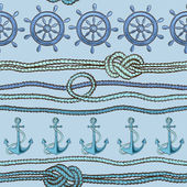 Nautical seamless pattern — Stock Vector