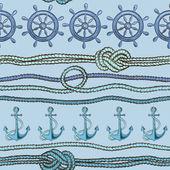 航海のシームレスなパターン — ストックベクタ