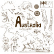 Collection of Australia icons — Stock Vector #49056971