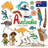Collection of Australia icons — Stock Vector