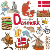 Collection of Denmark icons — Stock Vector