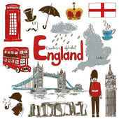 Collection of England icons — Stock Vector