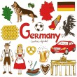 Collection of Germany icons — Stock Vector