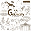 Collection of Germany icons — Stok Vektör #49393611