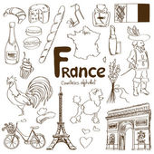 Collection of France icons — Stock Vector