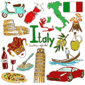 Collection of Italy icons — Stock Vector