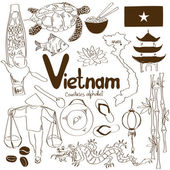 Collection of Vietnamese icons — Stock Vector