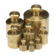 Brass Apothecary Pharmacy Weights — Stock Photo