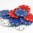 Splash of colorful gaming chips — Stock fotografie #17158907