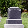 Stock Photo: Blank Grave Monument Headstone