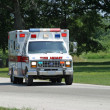 Trauma Unit on Country road — Stock Photo