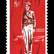 Stock Photo: AmeliEarhart Commemorative Stamp issued 1963