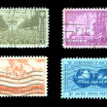 Commemorative Postage Stamps — Stock Photo