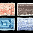 Commemorative Postage Stamps - Stock Photo
