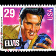 Elvis Presley commemorative postage stamp USA 1993 - Stock Photo