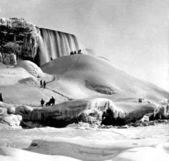 No gelo, niagara falls, nova iorque. — Foto Stock