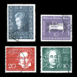 World Postage Historic Composers — Stock Photo