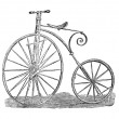Ariel Velocoped boneshaker vintage high wheeler antigue — Stock Photo