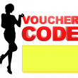 Stock Photo: Illustration Voucher Code Lady