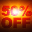Illustration fifty percent off orange — Stock Photo
