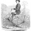 Stock Photo: Gentlembicycle rider In countryside drawing