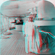Admiral Dewey on ship 3D anaglyph — Stock Photo #40385133